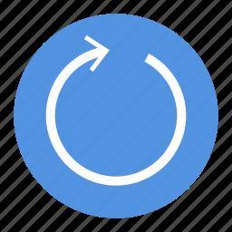 arrow, circle, rond, ui, ux icon