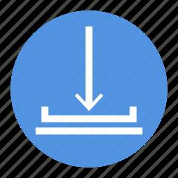 arrow, download, ui, ux icon