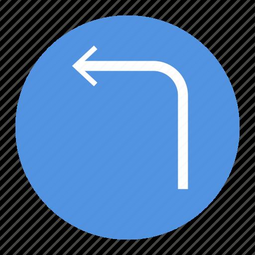 arrow, left, sign, ui, ux icon