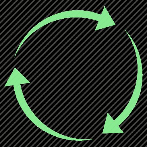 arrow, arrows, circle, cycle, recycle icon
