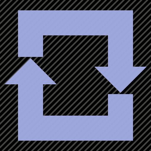 arrow, arrows, cycle, recycle icon
