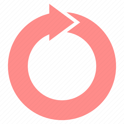 arrow, arrows, circle, cycle, recycle, rotation icon