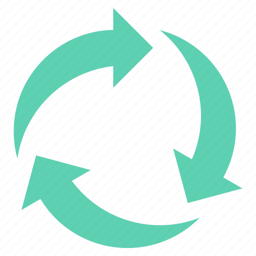 arrow, arrows, cycle, recycle, rotation icon