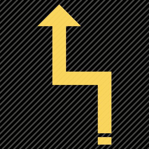 arrow, arrows, direction, left, up icon