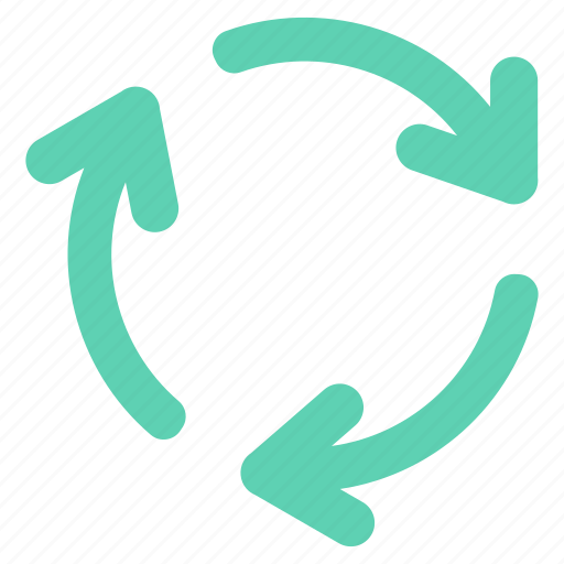 arrow, arrows, circle, cycle, direction, recycle icon