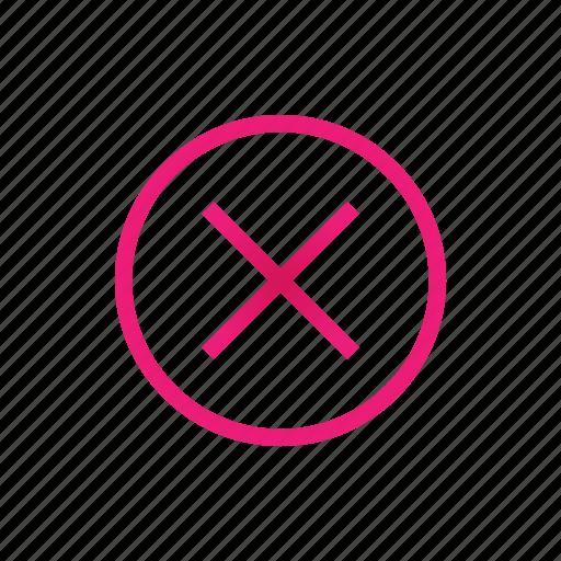 close, cross, del, delete icon