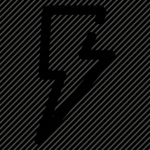 basic, bolt, electric, electricity, energy, power, ui icon