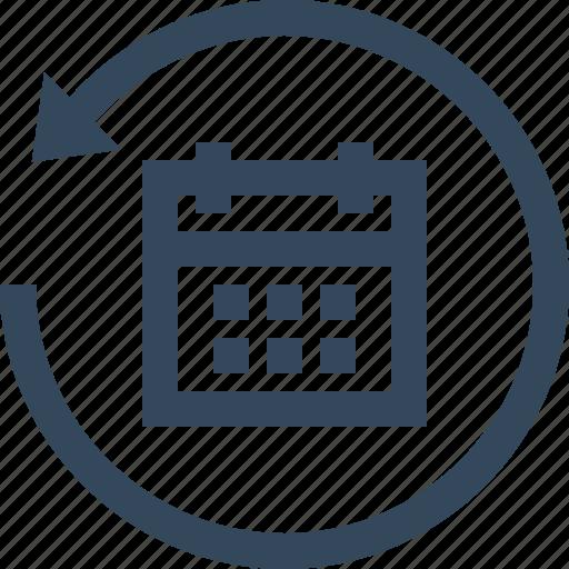 Calendar, events, restore date, schedule, restore, restore calendar, event icon - Download on Iconfinder