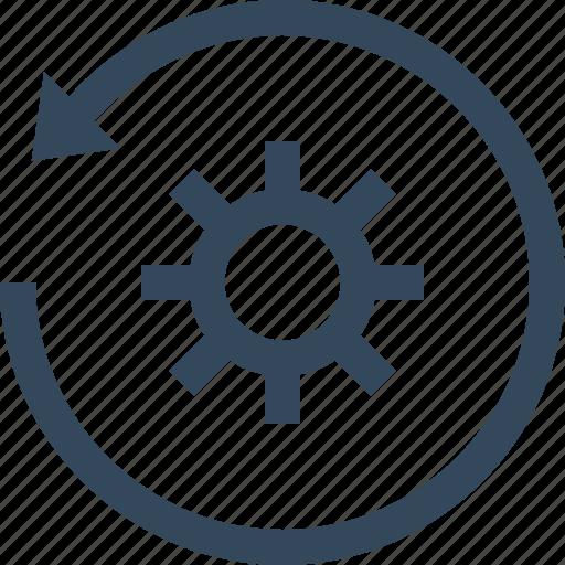 configuration, gear, miscellaneous, preferences, restore, setting, settings icon