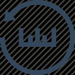 measurement, reset, restore, scale, settings, unit icon