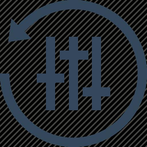 configuration, equalizer, preferences, reset, setting icon