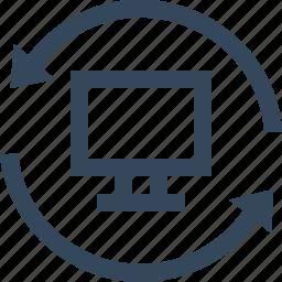 computer, reset, reset computer icon