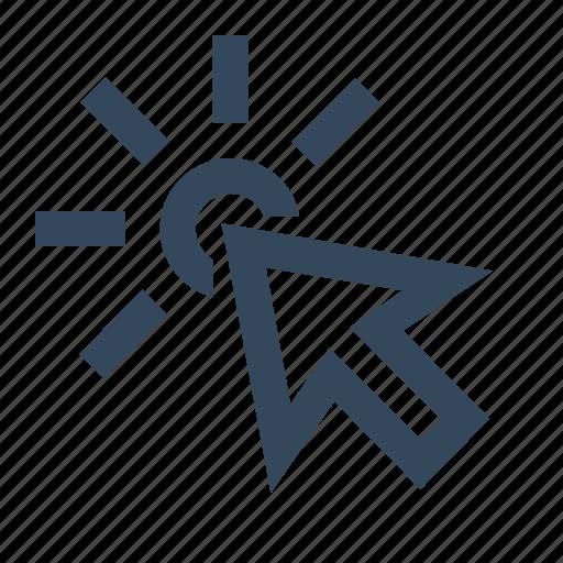 arrow, clicked, clicking, cursor, mouse, pointer icon