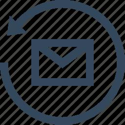 email, refresh, restore, restore email, update icon
