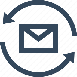 email, mail loading, sync email, sync mail, synchronization icon