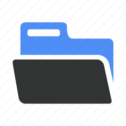briefcase, document, documents, folder, open icon