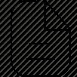file, folder, note, paper icon