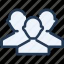 avatar, friends, list, ui, users, ux icon