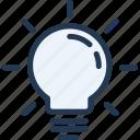 bulb, idea, lamp, light, tip, ui, ux icon