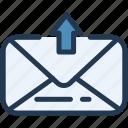 e, envelope, mail, sending, sent, ui, ux icon