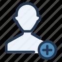 add, avatar, friend, ui, user, ux icon