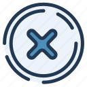 cross, declined, error, ui, ux, wrong icon