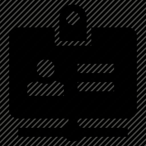 account, id, identity, network, person, profile icon