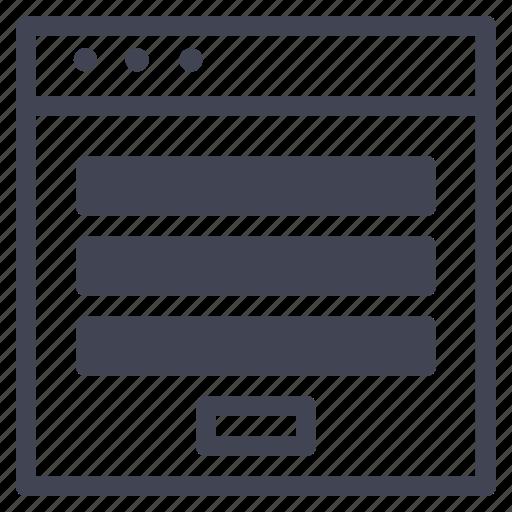 browser, design, different, horizontal, sizes, tabs, ui icon