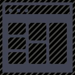 browser, design, multiple, shapes, ui, website icon