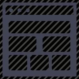 browser, deisgn, landscape, multiple, shapes, ui, website icon