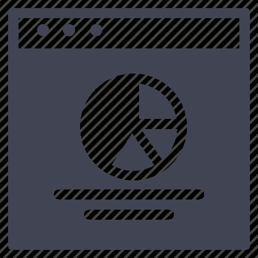 browser, chart, design, pie, ui, website icon