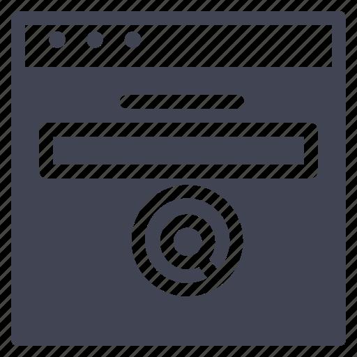 browser, design, internet, magnifier, search, ui, website icon