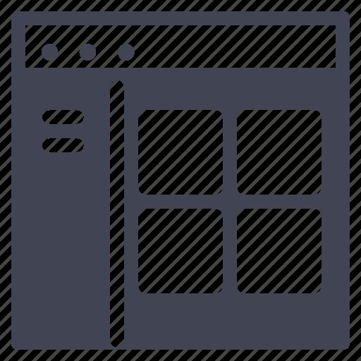 browser, design, starter, tab, ui, website icon