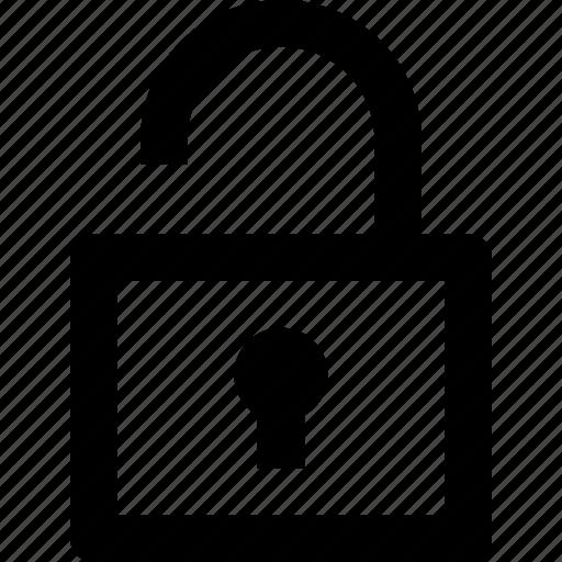 open, padlock, ui, unlock icon