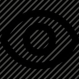 eye, ui, unhide, view, visible icon