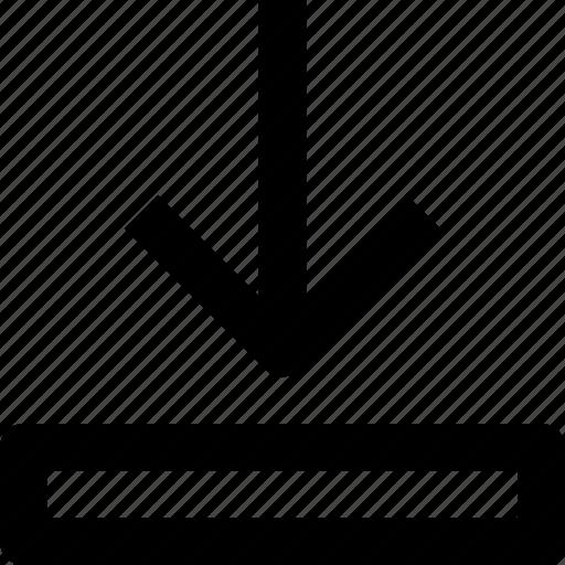 arrow, down, download, save, ui icon