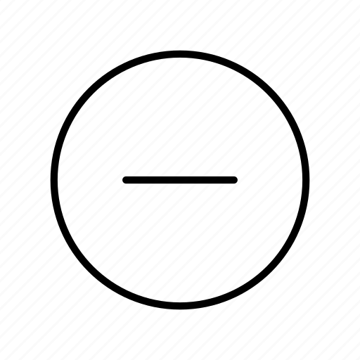 cancel, circle, close, delete, minus, remove, ui icon