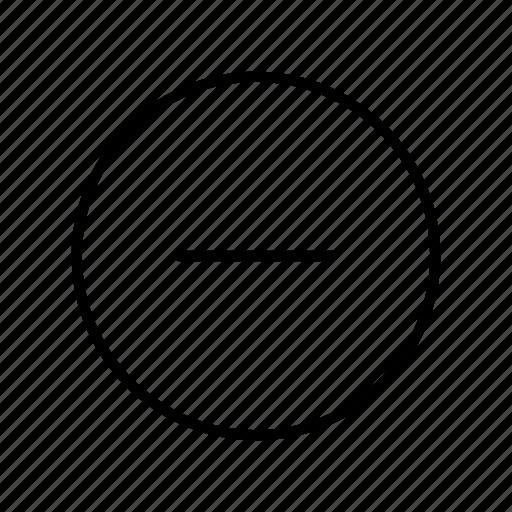 Cancel, circle, close, delete, minus, remove, ui icon - Download on Iconfinder