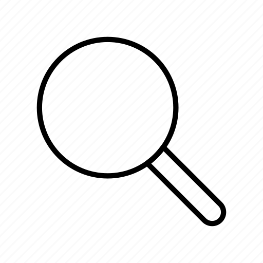 find, glass, magnifier, magnifying, search, ui, zoom icon