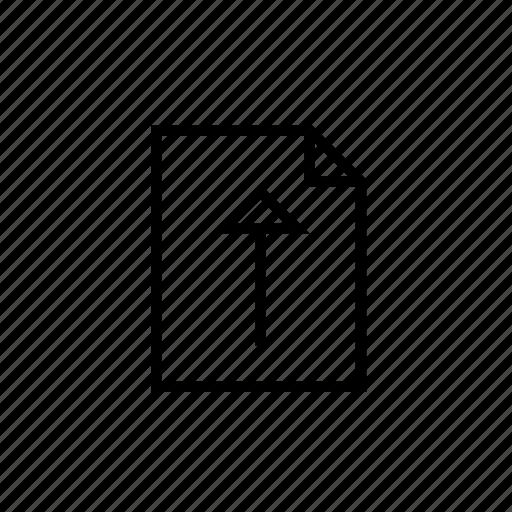 document, heavy, hollow, ui, upload icon