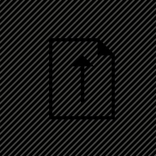 document, heavy, solid, ui, upload icon