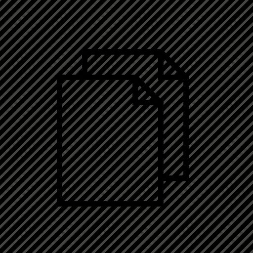 documents, heavy, hollow, ui icon