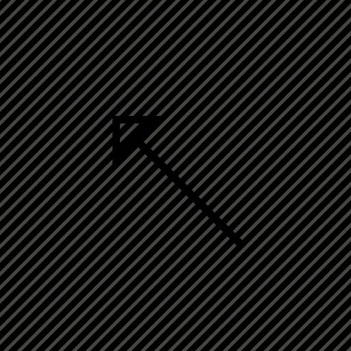 arrow, heavy, hollow, left, ui, up icon