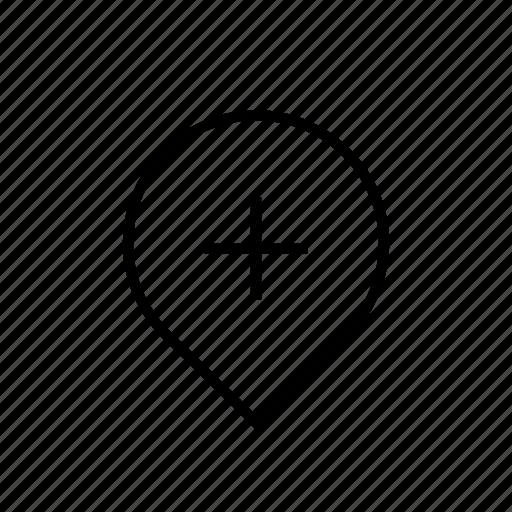 add, heavy, map, pin, ui icon