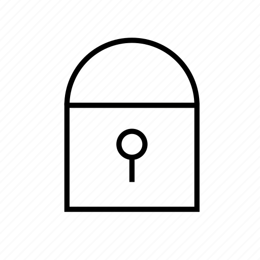 heavy, hollow, secure, ui icon