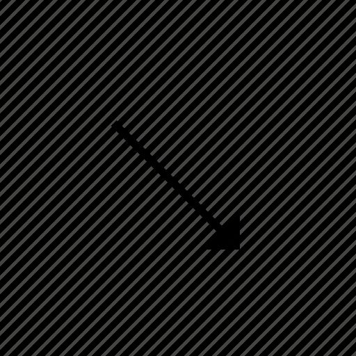 arrow, down, heavy, right, solid, ui icon