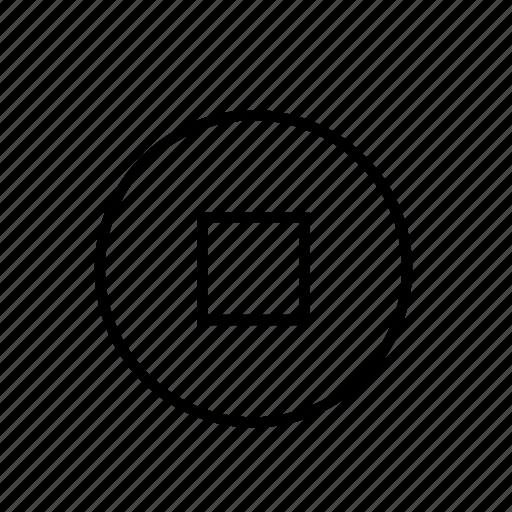 heavy, stop, ui, video icon