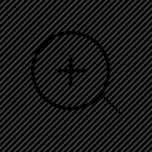 heavy, in, ui, zoom icon