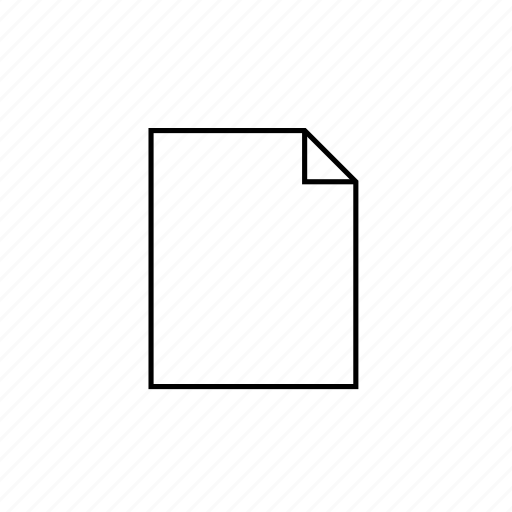 document, hollow, light, ui icon