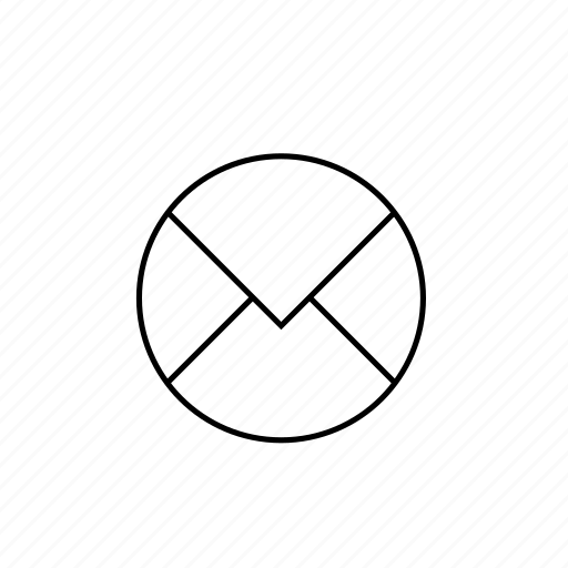 circle, light, mail, ui icon